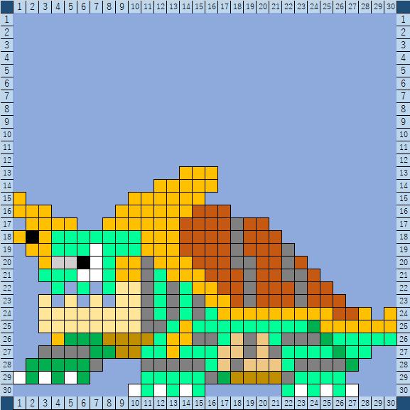 ポケモンアイロンビーズ図案(カジリガメ)